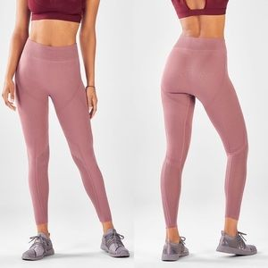 Fabletics blush pink high rise seamless leggings M